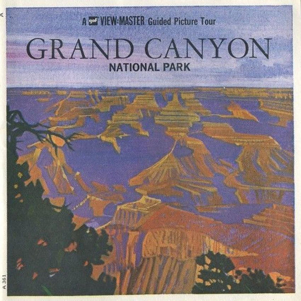 ViewMaster - Grand Canyon National Park  - A361 - Vintage  - 3 Reel Packet - 1970s views
