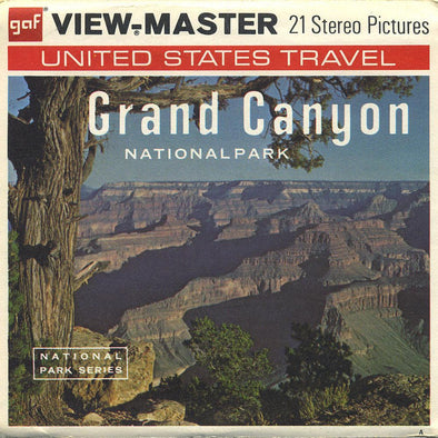 Grand Canyon National Park - A361 -Vintage Classic View-Master 3 Reel Packet - 1970s views