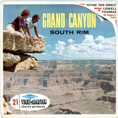 Grand Canyon - South Rim, Arizona - A361 -  Vintage Classic View-Master - 3 Reel Packet - 1960s views