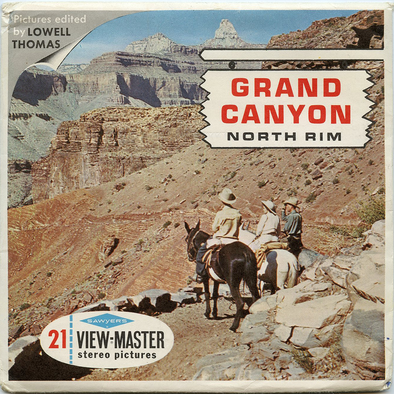 Grand Canyon - North Rim - A362 - Vintage Classic View-Master 3 Reel Packet - 1960s views