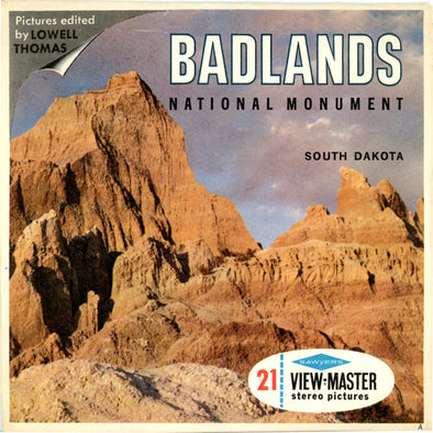 Badlands National Monument - Vintage Classic ViewMaster(R) 3 Reel Packet - 1960s views