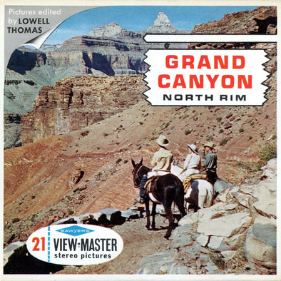 Grand Canyon - North Rim - A362 - Vintage Classic View-Master - 3 Reel Packet - 1960s Views