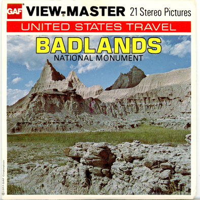 Badlands National Monument - H70 - Vintage Classic View-Master 3 Reel Packet - 1970s views