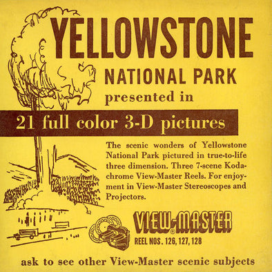 Yellowstone National Park  - Vintage Classic View-Master® - 3 Reel Packet - 1940s Views