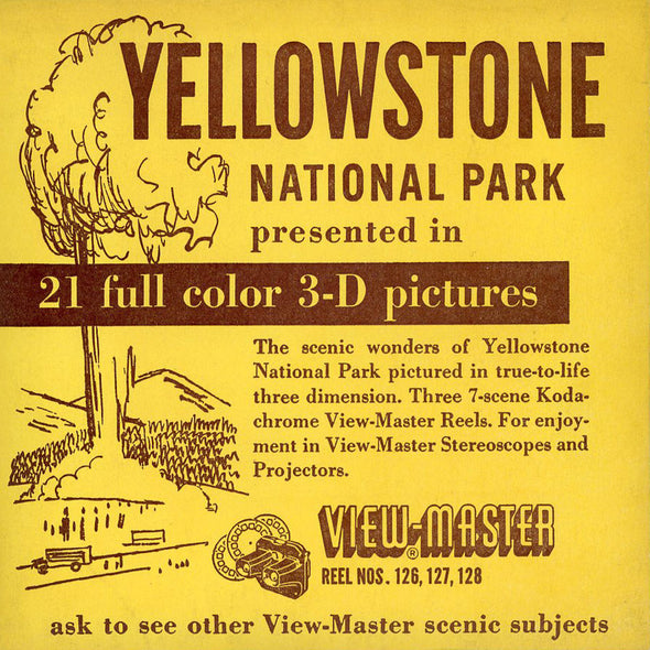 Yellowstone National Park  - Vintage Classic View-Master - 3 Reel Packet - 1950s Views