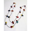 Multi-Color Organic TAGUA Necklace - butterfly slides, Mid-Century Modern - Moira - Artisan Elegant