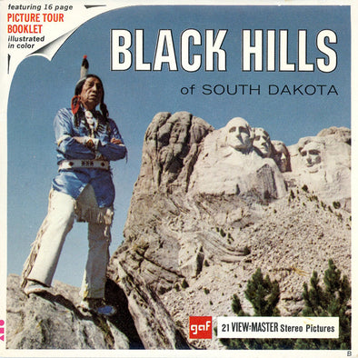 Black Hills of South Dakota - Vintage Classic View-Master(R) 3 Reel Packet - 1960s views