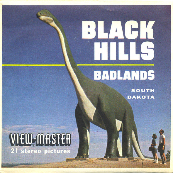 ViewMaster Black Hills & Badlands - South Dakota - A486 - Vintage Classic - 3 Reel Packet - 1960s Views