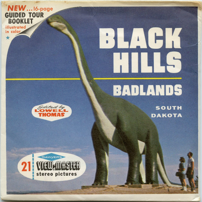 Black Hills and Badlands - Vintage Classic ViewMaster(R) 3 Reel Packet - 1960s views