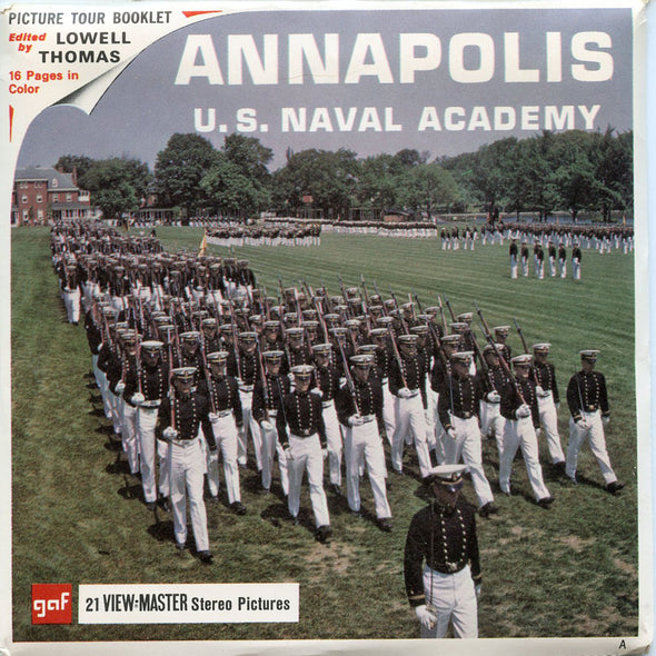 ViewMaster- Annapolis - U.S. Naval Academy - A783 - Vintage - 3 Reel Packet - 1960s views