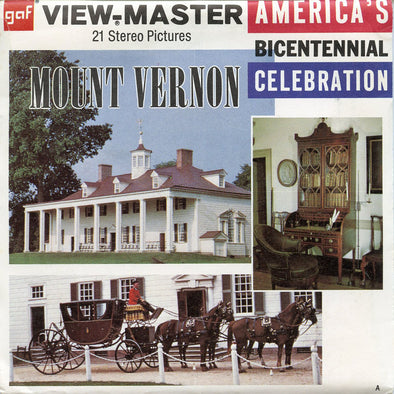 Mount Vernon - A812 - Vintage Classic View-Master - 3 Reel Packet - 1970s Views
