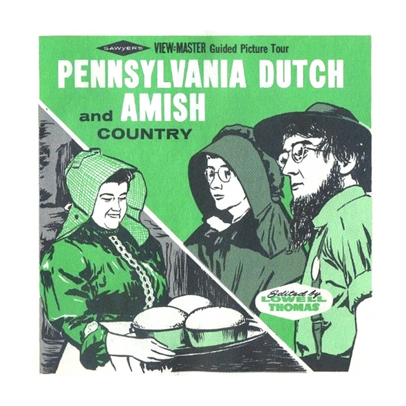 Pennsylvania Dutch and Amish Country -  Vintage Classic View-Master® - 3 Reel Packet - 1960s Views