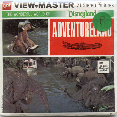 ViewMaster - Adventureland  - Disneyland - Vintage - 3 Reel Packet - 1970s views - A177