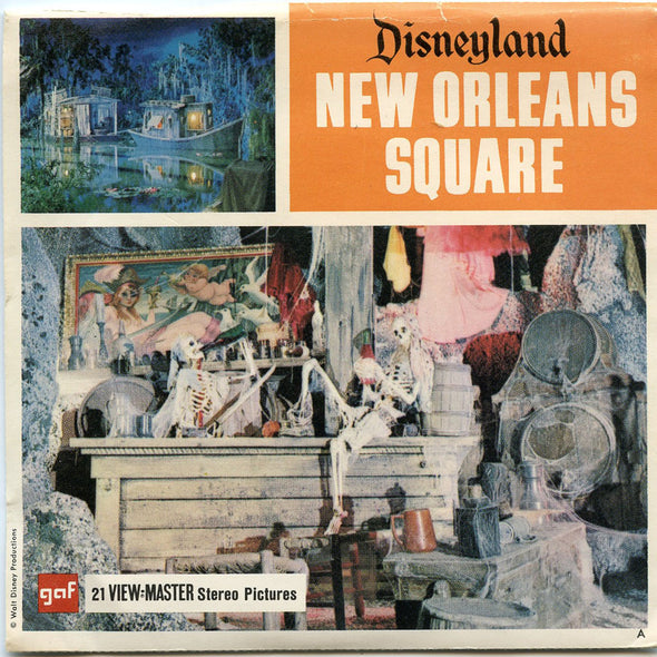 View Master - New Orleans Square -  Disneyland  - Vintage - 3 Reel Packet - 1960s views - A180