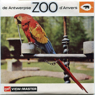 View Master Antwerpse Zoo d'Anvers - C372 -  Vintage Classic -3 Reel Packet - 1960s views