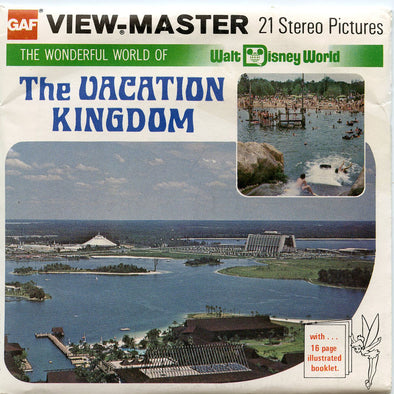 ViewMaster - Vacation Kingdom - Disney World - Vintage - 3 Reel Packet -1970's views - H20