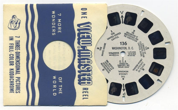 Washington, D.C. Vintage Single White Printed Reel - 136