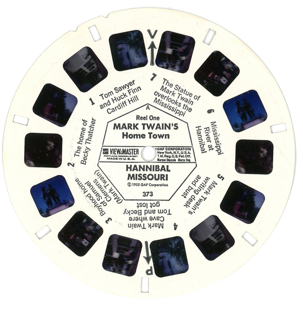 mark twains home town Hannibal Mo View-Master Reel