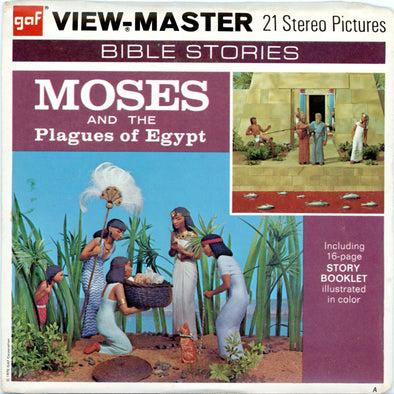 Moses and the Plagues of Egypt - Vintage Classic View-Master(R) 3 Reel Packet - 1970s
