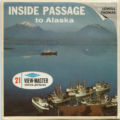 Inside Passage to Alaska - A020 - Vintage Classic View-Master - 3 Reel Packet - 1960s Views