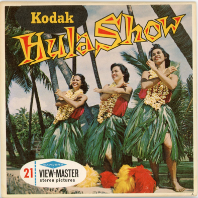 Kodak - Hula Show -  Hawaii - A122 - Vintage Classic View-Master - 3 Reel Packet - 1960s Views