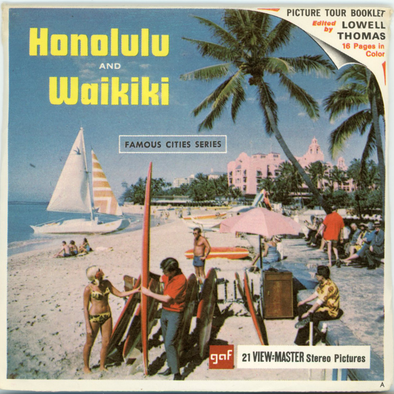 View-Master -Scenic Alaska-Hawaii - Honolulu and Waikiki