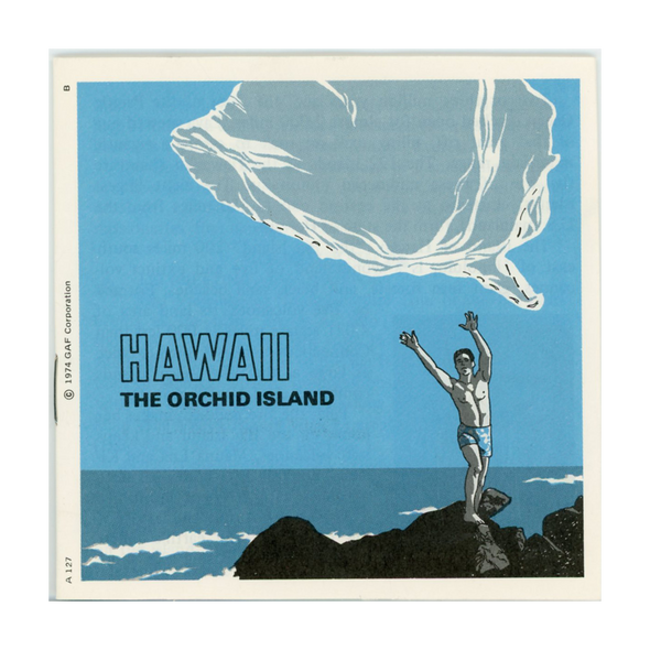 ViewMaster - Hawaii - the Orchid Island - A127 - Vintage  - 3 Reel Packet 1970s Views