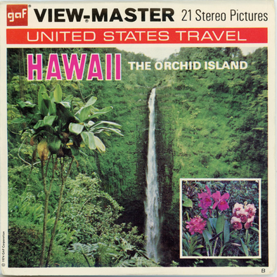 Hawaii - the Orchid Island - A127 - Vintage Classic View-Master - 3 Reel Packet 1970s Views