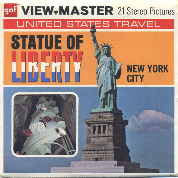 Statue of Liberty - New York City - A648 -  Vintage Classic View-Master(R) - 3 Reel Packet - 1960s Views