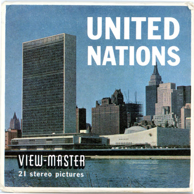 United Nations - Vintage Classic ViewMaster(R) 3 Reel Packet - 1950s views