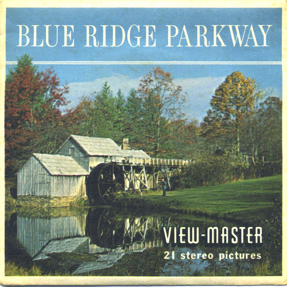 Blue Ridge Parkway - A855 - Vintage Classic View-Master - 3 Reel Packet - 1960s Views