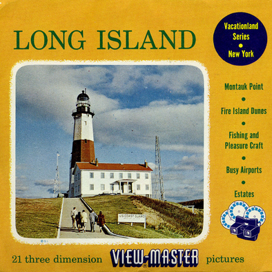 Long Island - New York - Vintage Classic View-Master® - 3 Reel Packet - 1950s Views
