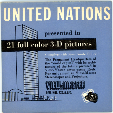 United Nations - New York - Classic ViewMaster 3 Reel Packet - 1950s views