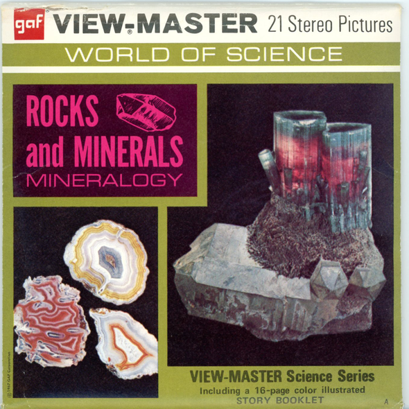 Rocks and Minerals-Mineralogy -B677- Vintage Classic View-Master(R) 3 Reel Packet - 1970s views