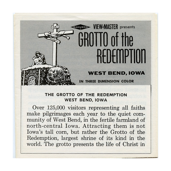 ViewMaster - Grotto of the Redemption - A541 - Vintage - 3 Reel Packet - 1960s Views