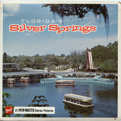 Florida's Silver Springs - Vintage Classic View-Master(R) 3 Reel Packet - 1960s views