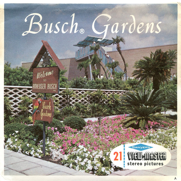 ViewMaster - Busch Gardens  - A988 - Vintage - 3 Reel Packet - 1960s views