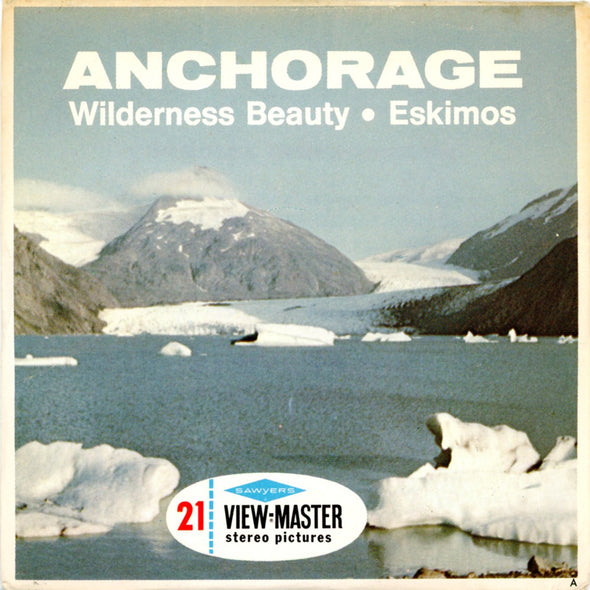 ViewMaster Anchorage - Wilderness Beauty - Eskimos - A103 - Vintage Classic  - 3 Reel Packet - 1960s Views