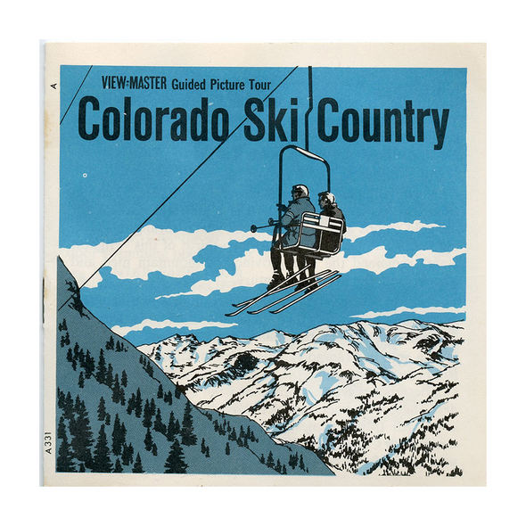 ViewMaster - Colorado Ski-Country - U.S.A. - A331 - Vintage Classic - 3 Reel Packet - 1960s Views