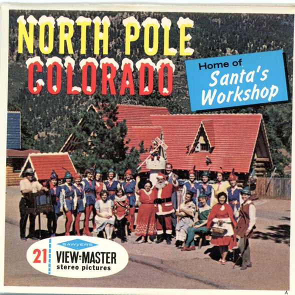 North Pole - Colorado - A333 -  Vintage Classic View-Master 3 Reel Packet - 1960s views