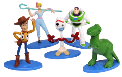 toy Story 4 mini - 5 figurines Buzz, Woody, Bo Peep,Rex Forky