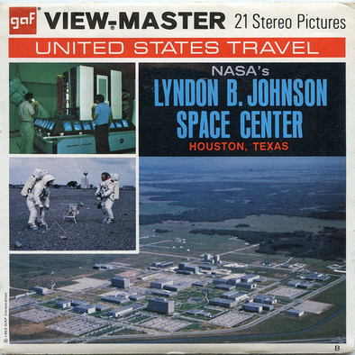 NASA's Lyndon B Johnson Space Center -  Vintage Classic View-Master(R) 3 Reel Packet - 1960s views