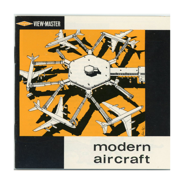 Modern - Aircraft - B672e - Vintage Classic View-Master - 3 Reel Packet - 1960s Views
