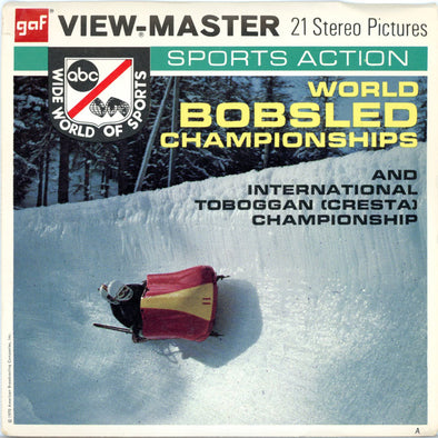 World Bobsled Championships - Vintage Classic View-Master 3 Reel Packet - 1960s