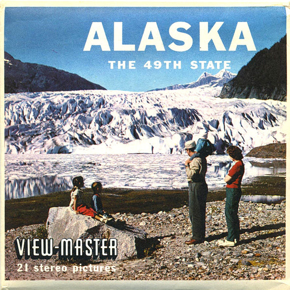 ViewMaster Alaska - 49th State - A101 - Vintage Classic - 3 Reel Packet - 1960s Views