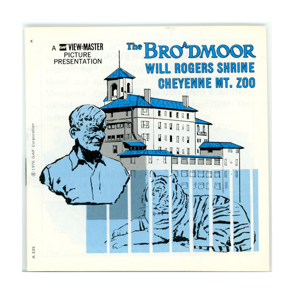 ViewMaster Brodmoor Hotel, Will Rogers Shrine and Cheyenne Mt. Zoo - A335 -Vintage - 3 Reel Packet - 1970s Views
