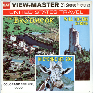 Broadmoor Hotel-Colorado- A335 -Vintage Classic View-Master - 3 Reel Packet - 1970s Views