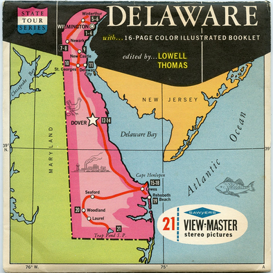 Delaware - Map Series - Vintage Classic View-Master(R) - 3 Reel Packet - 1960s Views