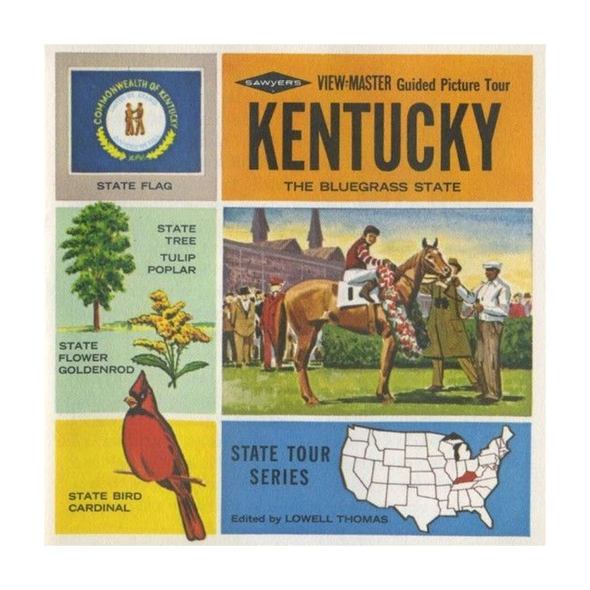 Kentucky - Map Series - A845 - Vintage Classic View-Master 3 Reel Packet - 1960's views
