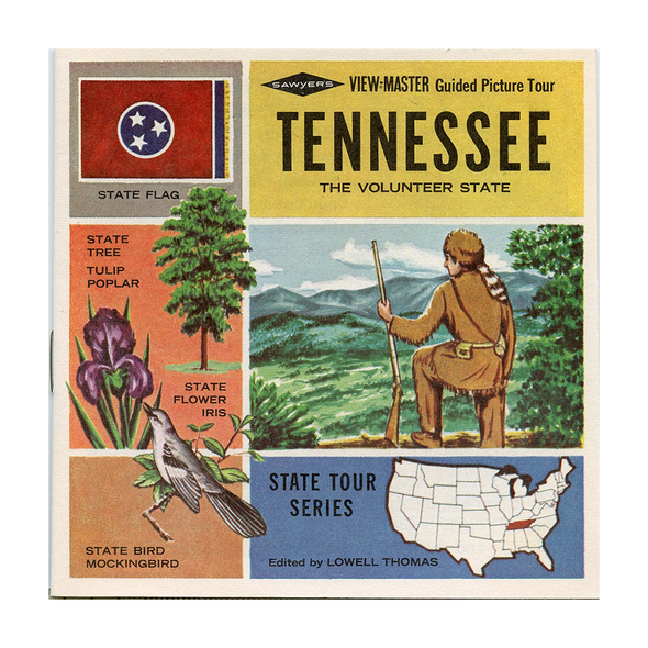 ViewMaster - Tennessee - Map - Series - A875 - Vintage - 3 Reel Packet - 1960s Views